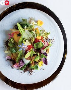 A dish called, appropriately, Into the Vegetable Garden.