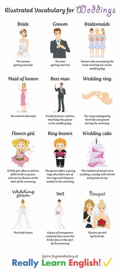 English Vocabulary For Weddings: Going to a wedding is always fun, no matter what language you speak. Who doesn't love getting together with friends and family, attending a beautiful ceremony and going to an amazing party afterwards? Despite this, for students of English, going to a wedding where English will be the main language might also be a little stressful. That's why we put together this list of English wedding words. In this lesson, you will learn all the vocabulary you need to be a…