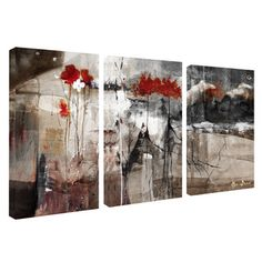 Alexis Bueno 'Abstract' Canvas Wall Art (3-piece Set) - Overstock™ Shopping - Top Rated Ready2hangart Canvas