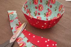 Fabric Bowl made with Mod Podge