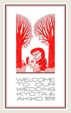 Poster for Wedding by Studio-Takeuma, via Behance
