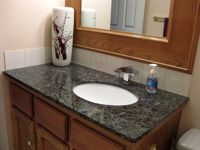 Dark Granite With Oak Bathroom Cabinets Google Search