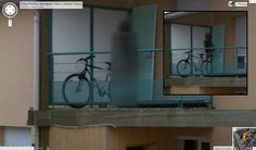 The Tiki Demon of Nancy, France  Reddit user karma_companion found this disconcerting image of an emaciated figure standing on a balcony in France. Although the scraggly-haired, demonic-looking shadow is most likely a tiki statue, Google has since blurred out the image. This has prompted paranormal enthusiasts to question the perfectly rational explanation to this creepy, creepy picture.