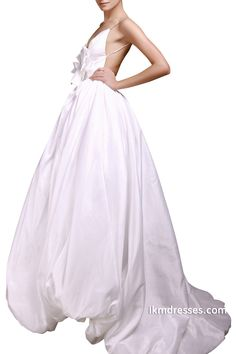 Sexy+Bridal+Gowns+Spaghetti+Straps+Backless+Floor-Length+Evening+Prom+Ball+Gown+Wedding+Dresses