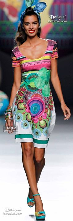 #Farbbberatung #Stilberatung #Farbenreich mit www.farben-reich.com Desigual Summer 2015 Madrid: