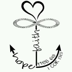 Faith Hope Love Anchor Infinity On Cross Heart Tattoo Pretty Tattoos, Love Tattoos, Body Art Tattoos, New Tattoos, Small Tattoos, Tatoos, Family Tattoos, Soul Tattoo, 1 Tattoo