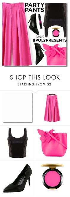 """""""#PolyPresents: Fancy Pants"""" by soks ❤ liked on Polyvore featuring Sophia Webster, MAC Cosmetics, contestentry and polyPresents"""