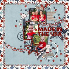 digital scrapbook layout by amber565
