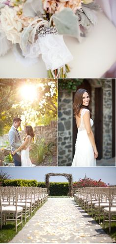 Click to see the rest of the stunning photos. Gorgeous dress. Love the grooms/groomsmen colors.