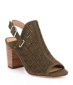 Antonio Melani Laycee Laser Perforated Block Heel Sandals Antonio Melani 33cc9f023d24