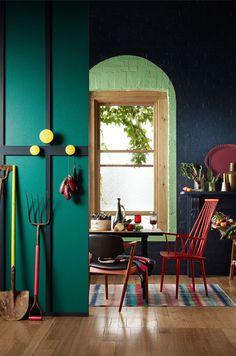 Colour Alliance Colour Golden Passionfruit Colour Scarlet Ribbons Colour North Sea Blue Surrounding Muuto Dots hooks Colour Tendril Colour N...