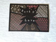 Rock'N'Love card  Valentine by BoutousCreations on Etsy, $3.00