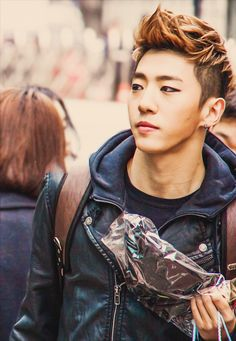 I don't think a person can be more in love with a picture then I am with this one! Ah he is gorgeous ~Yongguk BAP