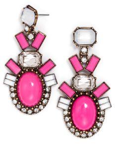 Hot pink earrings!