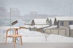 Snowy Village - Medium