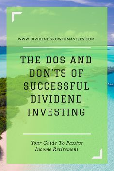 7 Warren Buffett secrets to successful dividend investor. What can we learn from the world's greatest investor and apply to passive income dividend investing? be patient. be a long-term stock owner. Stock Market Investing, Investing In Stocks, Investing Money, Investment Portfolio, Investment Advice, Investment Property, Retirement Investment, Investment Firms, Early Retirement