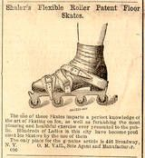 Roller blades are not a new invention- Parlor Skates like this were used during the Civil War Period - The Evolution of Inline RollerSkates