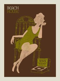 Beach House Concert Poster Designed by Methane Studios