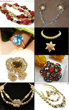 GORGEOUS GEMS by loli on #Etsy--Pinned with TreasuryPin.com #fashion #vintage #jewelry #treasury #teamlove