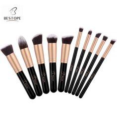 Bestope 10pc Makeup Brush Kit