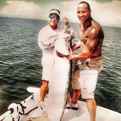 "Dwayne ""The Rock"" Johnson!! Fishing in Florida! Splendid!! #reellife #gearthatfitsyourlifestyle www.reellifegear.com"
