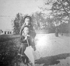 Grand Duchesses Olga and Anastasia Nikolaevna Romanova of Russia. \