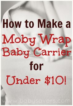 Baby wraps are so popular, but why spend $40 when you can learn how to make a Moby Wrap for under $10? See all the details in this DIY Moby Wrap tutorial!