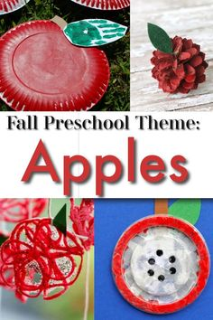 The perfect Fall theme for preschool and kindergarten: APPLES! Full of apple crafts, activities, literacy and numeracy games, Apple science experiments, even apple STEM ideas! Fall Preschool Activities, Preschool Arts And Crafts, Apple Activities, Creative Activities For Kids, Fall Crafts For Kids, Preschool Fall Theme, Ant Crafts, Class Activities, Alphabet Activities