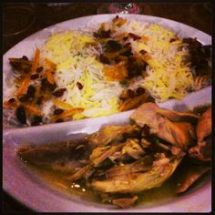 Persian dish...chicken & saffron rice in orange zest and currant