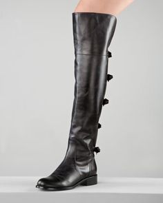 Flat Over-the-Knee Boot by Valentino at Neiman Marcus.