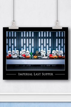 In Stock FREE Shipping For Orders Over $30 - Details - Reviews - Shipping It's the last supper for the iconic Star Wars™ characters, Darth Vader and his stormtroopers. The over confident group has gat