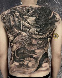 Dragon Tattoo Full Back, Dragon Tattoos For Men, Full Tattoo, Dragon Sleeve Tattoos, Full Back Tattoos, Back Tattoos For Guys, Japanese Dragon Tattoos, Dragon Tattoo Designs, Tribal Tattoos