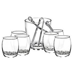 Allegra Juego de vasos + hielera 7 Piezas Napoles