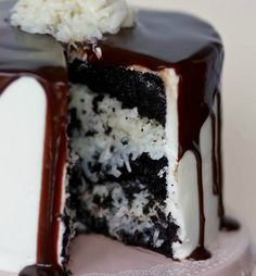 Mounds Layer Cake - easily the most popular recipe on my site!!