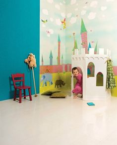 Murales habitaciones infantiles http://www.mamidecora.com/papeles_pintados_Coordonne.html