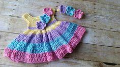 Baby Dress and Headband Spring Baby Girl Dress Pink Baby