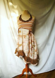 Woman's Upcycled Clothing Fairy Dress