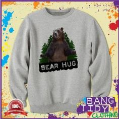Big Grizzly Bear Hug Funny Humorous Mens Sweatshirt  Our Price: £19.97