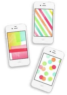 Love these FREE 'Colours and Shapes' iPhone Wallpaper » Eat Drink Chic
