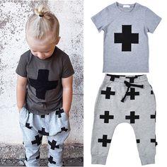 a75bd35c3 2016 Nununu summer clothing sets Cartoon cross pattern Short sleeve T-shirts  Printed Pants boys