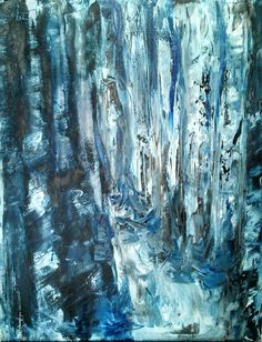Woodland Painting Snowy Woods Original Art Oil Painting FREE SHIPPING - Landscape Abstract Modern 22x28 on Etsy, 249,36 €