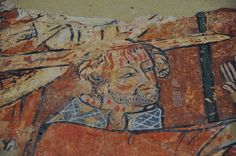 South Newington St Peter Ad Vincula church wall paintings on north wall martyrdom of St Thomas a Becket c1330 -18-28