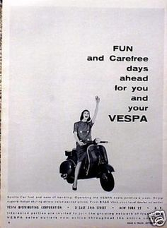 FUN and Carefree days ahead for you and your VESPA #ad