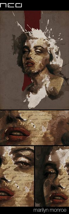 marilyn monroe by Florian NICOLLE, via Behance