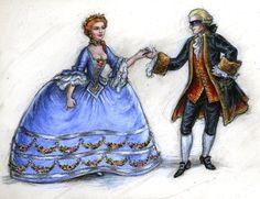 The Marquis de Sade and Laure by suburbanbeatnik.deviantart.com on @deviantART