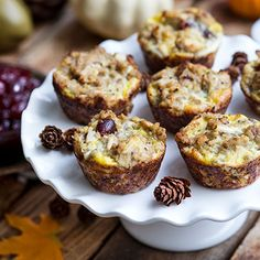 Get the most out of your Thanksgiving leftovers with this Gluten Free Stuffin' Muffins recipe that uses not just one but three traditional dishes that you're likely to have left over after the holidays.