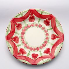 vanessa Plates, Tableware, Red, Green, Tablewares, Licence Plates, Dishes, Dinnerware, Griddles