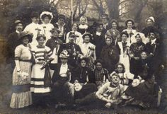 A Dutch costume party, in about 1900.
