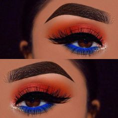 Gorgeous Makeup: Tips and Tricks With Eye Makeup and Eyeshadow – Makeup Design Ideas Makeup Eye Looks, Eye Makeup Art, Blue Eye Makeup, Skin Makeup, Beauty Makeup, Makeup Eyeshadow, Yellow Eyeshadow, Beauty Care, Beauty Hacks