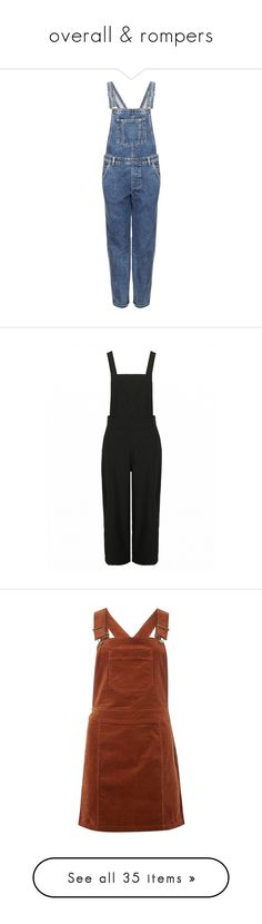 """overall & rompers"" by fayalfahad ❤ liked on Polyvore featuring jumpsuits, overalls, dungarees, pants, topshop, mid stone, petite, overalls jumpsuit, bib overalls and blue jump suit"